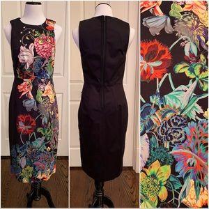 Anthropologie Leifsdottir Floral Sheath Dress, EUC